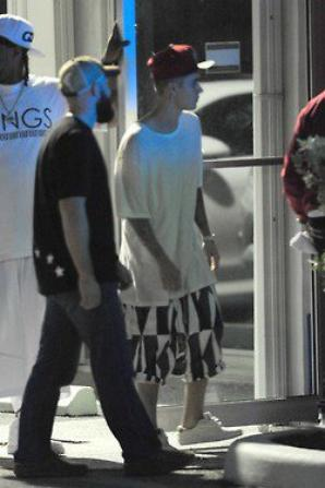 Justin et Selena au Miami's Hit Factory Studio.