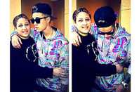 justin au  Hit Factory Studio avec le choreographer Nick Demoura + quelque photos avec ses fans.