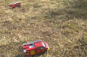 feu de chaume secteur csp valentin  , 2 hectares