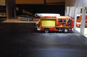 Fptl-od du csp valentin avec de nouvelle bande jaune poser et le lot de dévidoir,  1 dévidoir incendie classique et 1 dévidoir avec cône de lubec et panneau triangulaire de signalisation