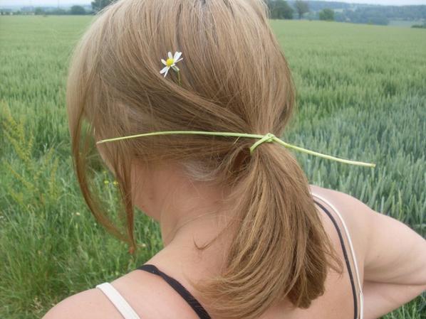 un chouchou nature  pour cheveux