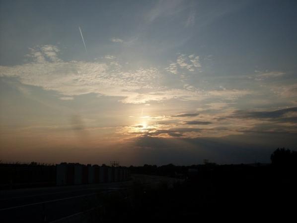 coucher du soleil a bierset