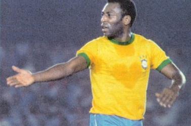 Maillot porté et signé par Edson Arantes Do Nascimento dit Pelé