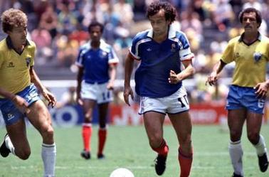 Maillot France porté par Michel Platini en coupe du monde 86