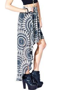 longue jupe a motif