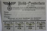 tickets de rationnement français et allemand