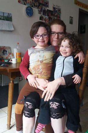 mes deux bébé avec ma niéce