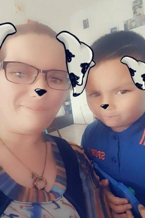 mes deux bébés lorianne et hamda et moi