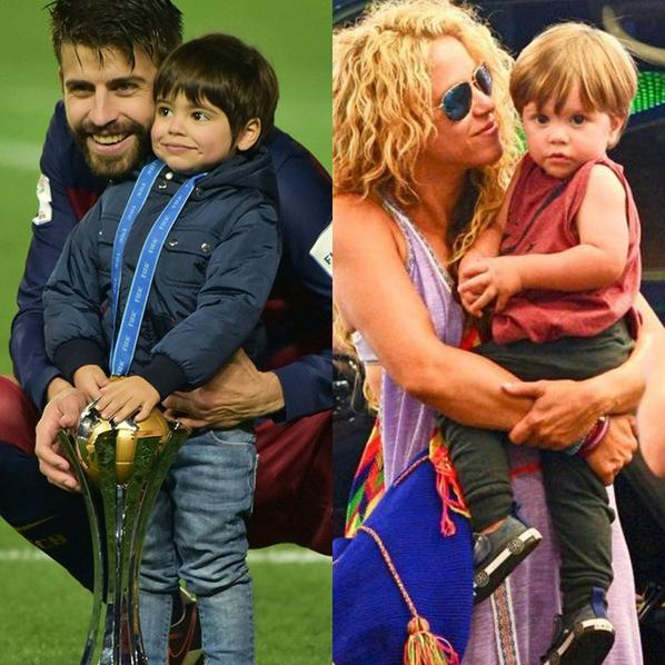 Shakira & ses fils Milan & Sasha