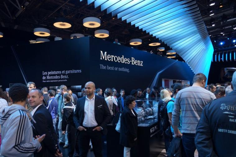 Le stand Mercedes !