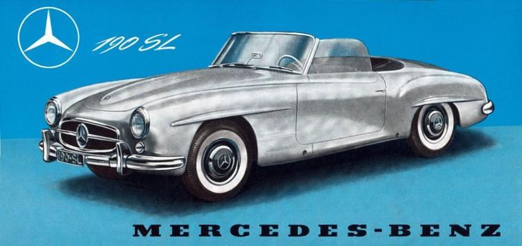 La Mercedes-Benz 190 SL W121