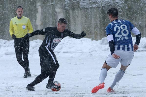 Hier, sous la neige de Beograd: match amical PartizanFK VS BCK Broca