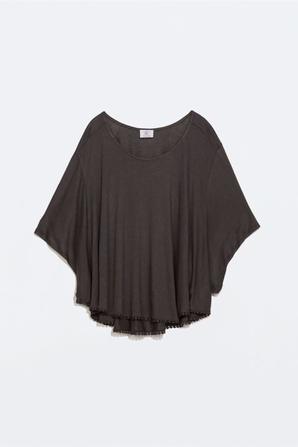T-shirt à manches chauve-souris Zara