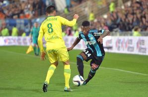 SUPERBE MAILLOT PORTE PAR NKOUDOU BUTEUR POUR LE MATCH FC NANTES-OM 0-1 du 1/11/15