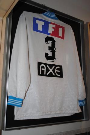 MAILLOT PORTE PAR ECHOUAFNI POUR LE MATCH OM - LILLE (0-1) en Coupe de France le 18/01/97 à Valence Stade Pompidou