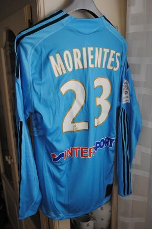 MAILLOT PORTE PAR FERNANDO MORIENTES REMPLACANT POUR LE MATCH AS MONACO - OM (1-2) 13/02/2010
