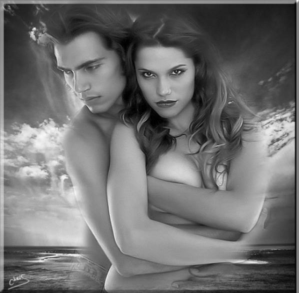 UN BEAU COUPLE ROMANTIQUE ET AMOUREUX POUR VOUS SOUHAITER UNE BONNE NUIT...BISOUSS... !!!