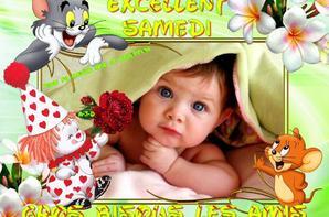 BON SAMEDI ET BON WEEK END A VOUS TOUS ET TOUTES... BISOUSSS... !!!