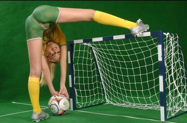 Dessin sur le corps football