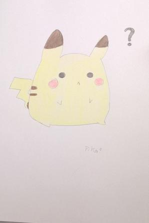 J'apprend a ma soeur a dessiner Pikachu ...