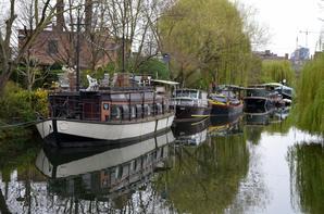 Le Canal de l'Ourthe et le Pont des Aguesses (ou Pont-levis Marcotty, désormais immobile et piétonniers)