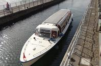 Le 95 m. ESQURUDE, FLANDRE III à destination du chantier naval de Pont-de-Loup, SPN01, BATTELLO, ...