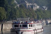 MENTOR avec 1219t. d'engrais de Moerdijk à Heer Agimont, suivi d'un deuxième transport de passagers hollandais, le MS ANDANTE, avant le croisement des premiers plaisanciers de ce 31 juillet  ;)