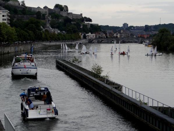 """Randonnée à la voile entre Waulsort et Liège (18 voiliers, 5 zodiacs et le spits """"RECTA"""" de Ronquières) -  MARIA ANNA (NL) -  ZELDEN RUST (NL)"""