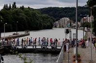 Les fêtes de Buley (brocante) et les joutes nautiques attirent la foule sur La Plante - Passage du CARPE-DIEM (Floreffe-Wépion-Namur-Floreffe)