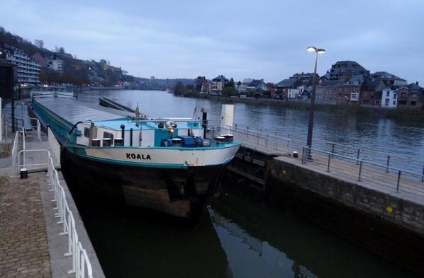 La capitainerie du port d'Amée a coulé ce samedi matin (RTBF) :(  - KOALA (ex. Organza), devise française, pour ce bateau construit à Beez en 1964   ;)