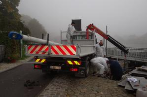 Interruption de la navigation ce vendredi (avis n°2015/0276/01) pour remplacer un vérin sur un vantail (SPW-DO253-électromécanique) et poursuite des travaux sur les vantelles (DPE)...