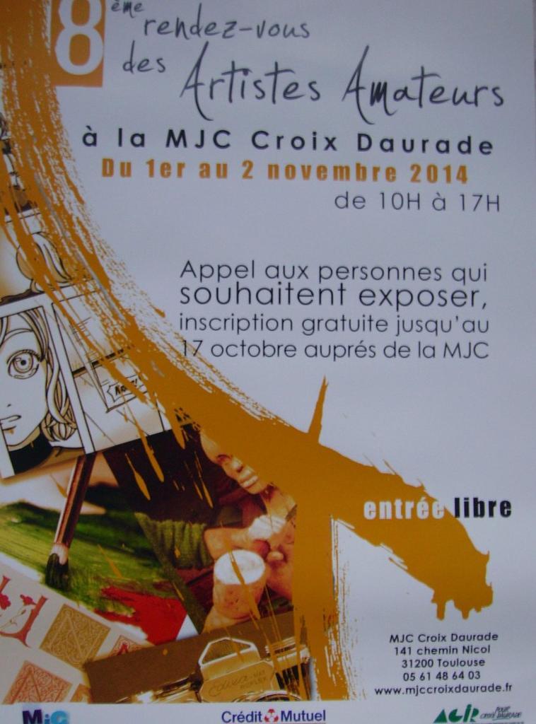 8ème Rendez-vous des Artistes Amateurs de la MJC Croix-Daurade à Toulouse :)