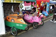 Course de voiture à pédales à Chatain 9 Août 2014