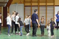 Stage de bâton avec Prof Michel Dupouy et les majorettes du Val de Boivre et les majorettes de St Aigulin