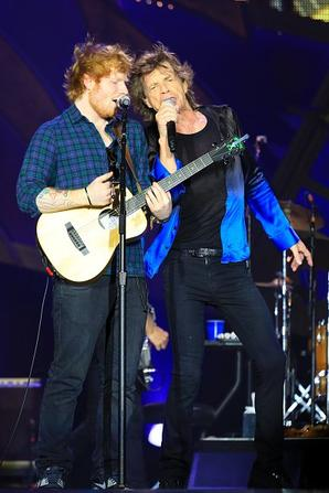 The Rolling Stones (avec Ed Sheeran ) en Concert - Kansas City, MO le 27 Juin 2015
