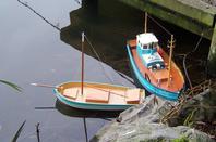 Navigation du cotier Soclaine et du chalutier Jolie Brise.