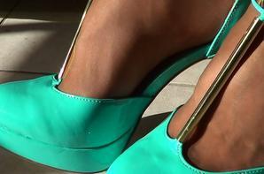 Mes talons turquoises