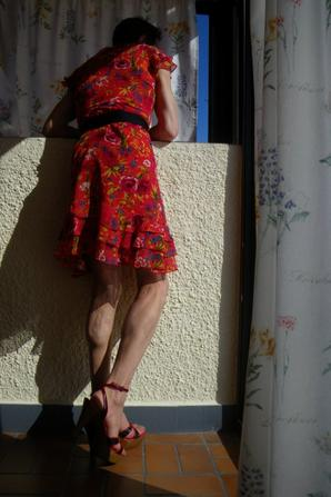 En robe a fleurs