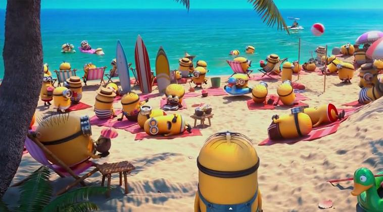 Les minions à la plage...