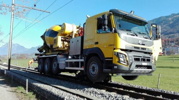 camion rails /route