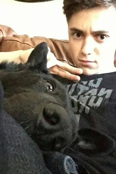 Greyson et son chien