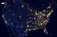 From space, look at our planet beautiful night