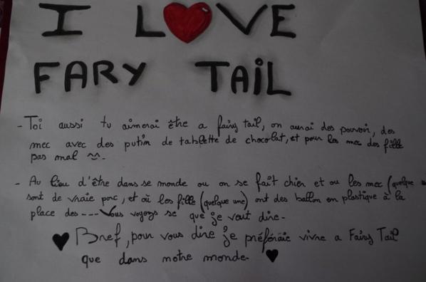 i love fairy tail  de rose