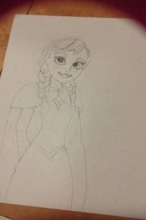 Dessins frozen/la Reine des neiges Anna et Elsa
