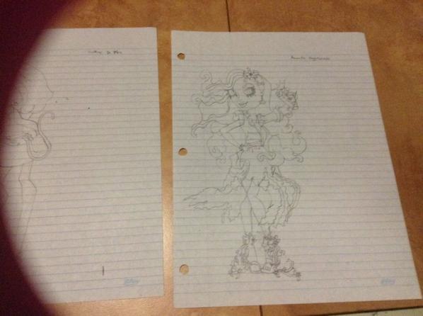 Dessins monster high Skelita/Catrine/Amanita