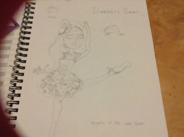Un dessin de Duchess Swan