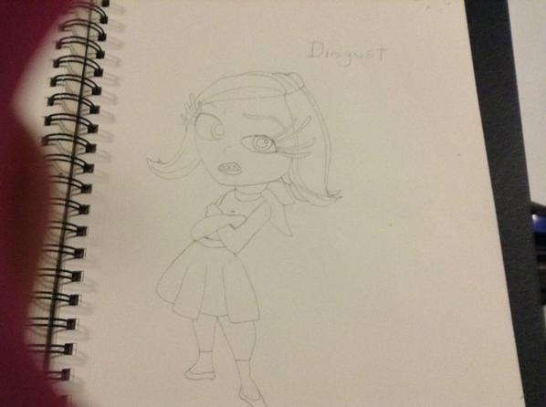 Dessin de Disgust de inside out