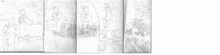 Voici les croquis de la BD-Manga