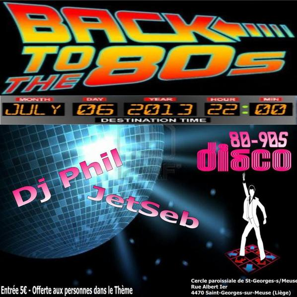 soirée back to the 80