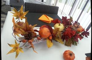 MA DECORATION DE TABLE  - AUTOMNE -